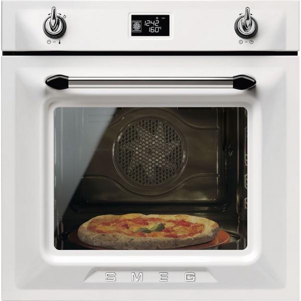 Cuptor incorporabil Smeg Victoria SFP6925PPZE, electric, multifunctional, 60cm, sticla crem, pizza, piroliza
