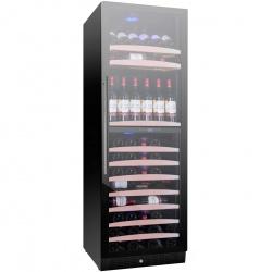 Racitor de vinuri Nevada Concept NW138D-FG, 138 sticle, doua zone, negru