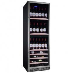 Racitor de vinuri Nevada Concept NW140D-S, 140 sticle, doua zone, negru/otel inoxidabil