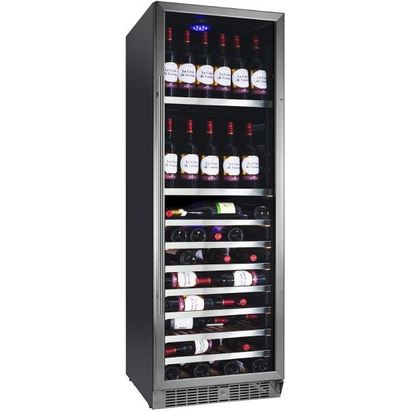 Racitor de vinuri Nevada Concept NW150S-SL, 150 sticle, negru/inox