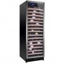 Vitrina de vinuri Nevada Concept NW171S-S, 171 sticle, negru/inox