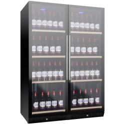Vitrina de vinuri Nevada Concept NW280D-FG, 280 sticle, doua zone, negru
