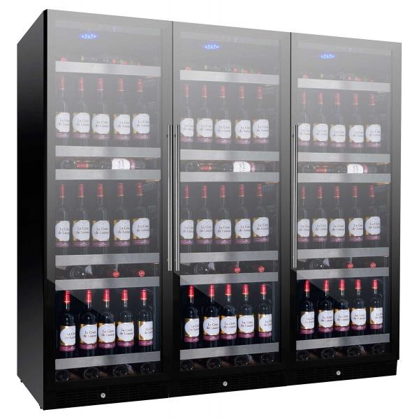 Vitrina de vinuri Nevada Concept NW470T-FGL, 470 sticle, 3 zone, negru