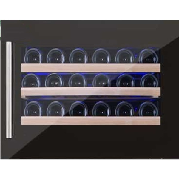 Vitrina de vinuri Nevada Concept NW26S-S, 26 sticle, negru/inox