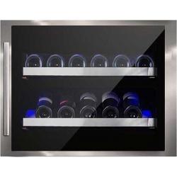Vitrina de vinuri incorporabila Nevada Concept NW28S-FGS2L, 28 sticle, inox