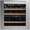 Vitrina de vinuri incorporabila Nevada Concept NW40D-SS1, 40 sticle, doua zone, inox