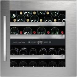Vitrina de vinuri incorporabila Nevada Concept NW40D-SSL, 40 sticle, doua zone, inox