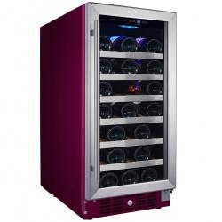Vitrina de vinuri Nevada Color NW33S-C-4004, 33 sticle, Bordeaux (RAL 4004)
