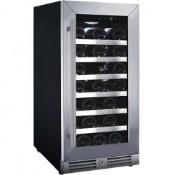 Vitrina de vinuri Nevada Concept NW33S-SL, 33 sticle, Negru/inox