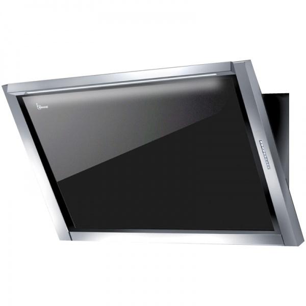 Hota design Baraldi Amy Plus 01AMYPLU090STB80, 90 cm, 800 m3/h, sticla neagra/inox