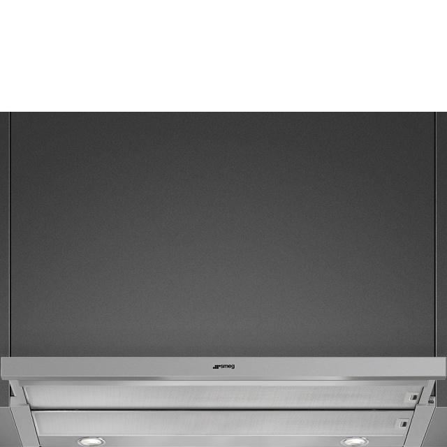 Hota insula Smeg Linea KIV90XE, 90 cm, 750 m3/h, sticla/inox