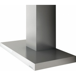 Hota decorativa Elica Joy BLIX/A/90, 90 cm, 713 m3/h, inox / sticla neagra