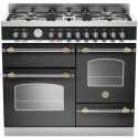 Aragaz Bertazzoni Heritage HER1006MFETNET, 100x60 cm, gaz, 6 arzatoare, 3 cuptoare electrice, negru mat