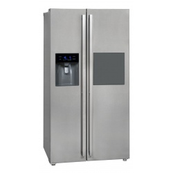 Side by Side Exquisit SBS530-3FCBA, Clasa A+, 502L, No Frost, dispenser apa/gheata, compartiment bar, alb