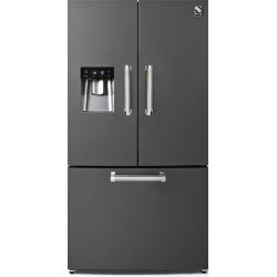 Side by Side Steel Genesi GFR9F , Clasa A+, 536L, No Frost, Dispenser Apa, Twist Ice Maker, mov