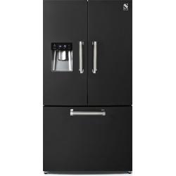 Side by Side Steel Genesi GFR9F , Clasa A+, 536L, No Frost, Dispenser Apa, Twist Ice Maker, crem