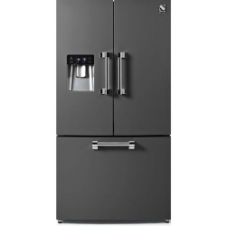 Side by Side Steel Ascot AFR9F , Clasa A+, 536L, No Frost, Dispenser Apa, Twist Ice Maker, mov