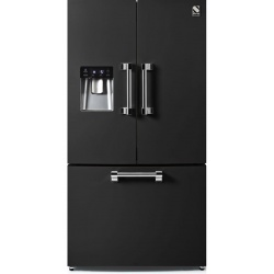 Side by Side Steel Ascot AFR9F , Clasa A+, 536L, No Frost, Dispenser Apa, Twist Ice Maker, crem