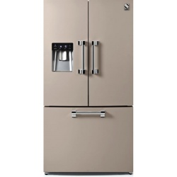 Side by Side Steel Ascot AFR9F , Clasa A+, 536L, No Frost, Dispenser Apa, Twist Ice Maker, crem inchis