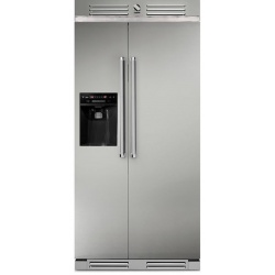 Side by Side Steel Ascot AFR9F , Clasa A+, 536L, No Frost, Dispenser Apa, Twist Ice Maker, gri nisip