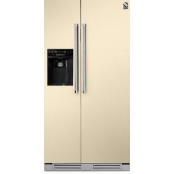 Side by Side incorporabil Steel Genesi GFRB9 , Clasa A+, 543L, No Frost, Dispenser Apa / Gheata, visiniu