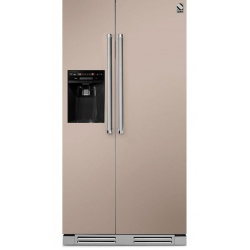 Side by Side incorporabil Steel Genesi GFRB9 , Clasa A+, 543L, No Frost, Dispenser Apa / Gheata, crem inchis