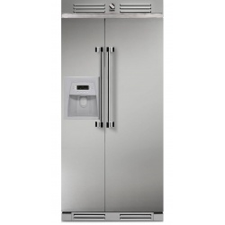 Side by Side Steel Ascot AFR9 , Clasa A+, 543L, No Frost, Dispenser Apa / Gheata, inox