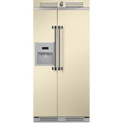 Side by Side Steel Ascot AFR9 , Clasa A+, 543L, No Frost, Dispenser Apa / Gheata, albastru deschis