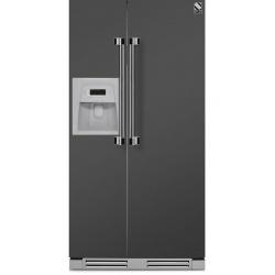 Side by Side incorporabil Steel Ascot AFRB9 , Clasa A+, 543L, No Frost, Dispenser Apa / Gheata, mov