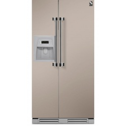 Side by Side incorporabil Steel Ascot AFRB9 , Clasa A+, 543L, No Frost, Dispenser Apa / Gheata, negru