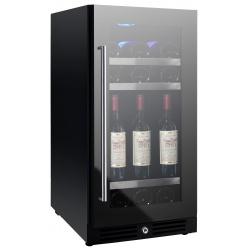 Vitrina de vinuri Nevada Concept NW46D-FG, 46 sticle, Negru