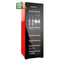 Vitrina de vinuri Vinum Design Colore VD40D-FG, 34/40 sticle, 2 zone temperatura, Negru