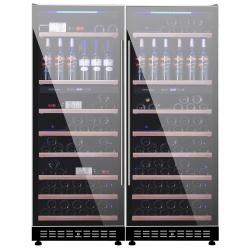 Vitrina de vinuri Vinum Design Clasic VD150D-FGM, 150 sticle, 2 zone temperatura, Negru