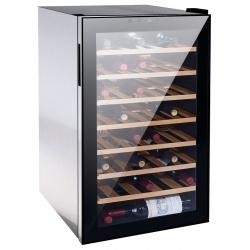 Vitrina de vinuri Vinum Design Clasic VD50SMCW, 50 sticle, 1 zona temperatura, Negru