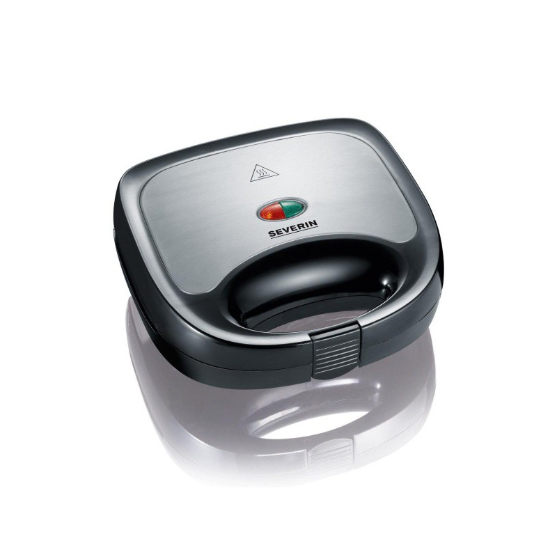 Sandwich maker Severin SA 2969,600W,regulator de temperatura,otel inoxidabil negru