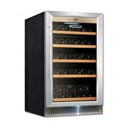 Vitrina de vinuri incorporabila Tecfrigo Sommelier 18, 18 sticle, 1 zona temperatura, No Frost, negru