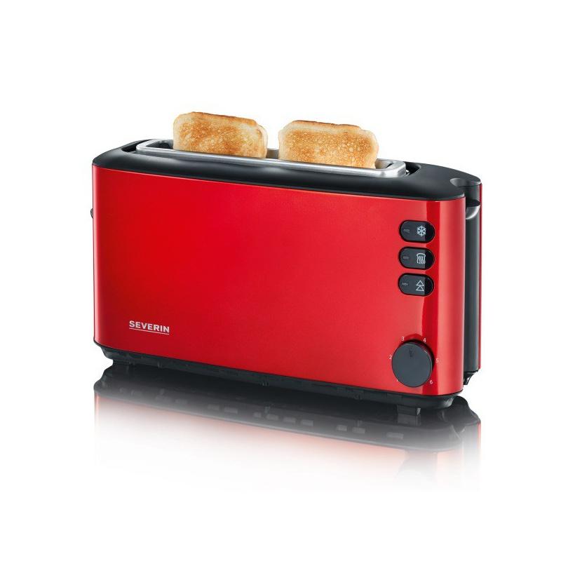 Toaster Severin AT 9729,1000W,2 felii de paine,rosu metalizat/negru