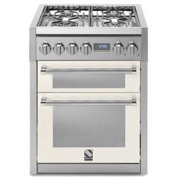 Aragaz Steel Genesi, 70X60cm, 4 arzatoare, cuptor dublu electric multifunctional, timer, aprindere electronica, negru