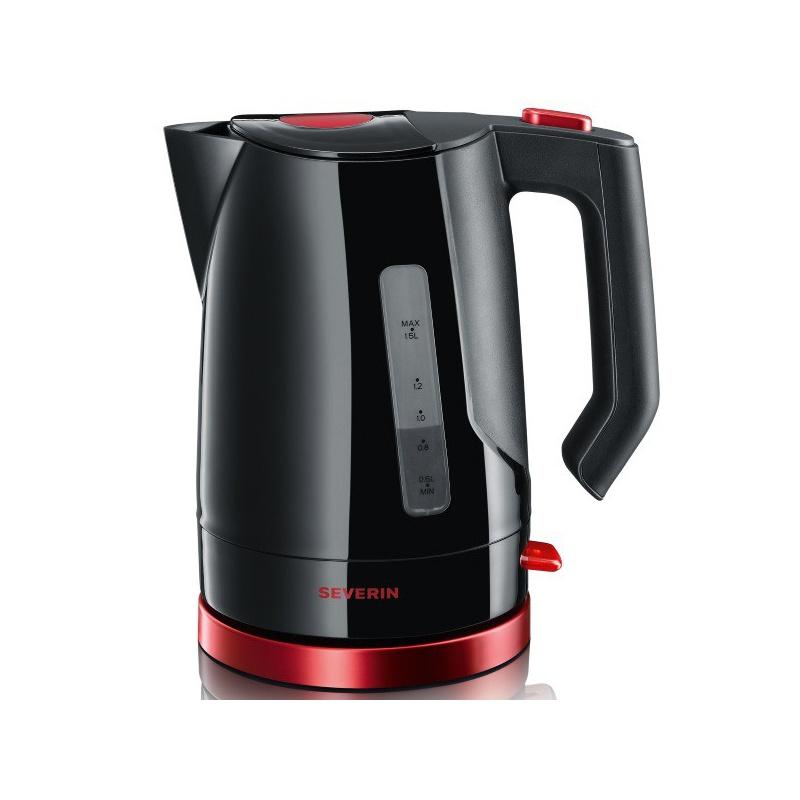 Ceainic Select Severin 3392,2200W,1,5l,negru/rosu metalizat