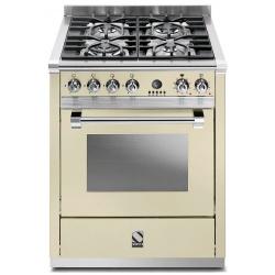 Aragaz Steel Ascot, 70X60cm, 4 arzatoare, cuptor electric multifunctional, timer, aprindere electronica, celeste