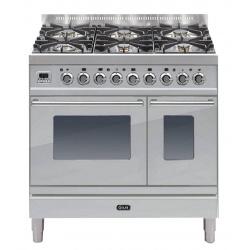 Aragaz ILVE Profesional line PD90, 90X60cm, 4 arzatoare, cuptoar gaz+electric, Tepanyaki, aprindere electronica, inox