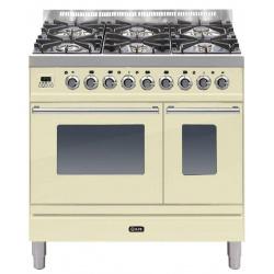 Aragaz ILVE Profesional line PD90, 90X60cm, 4 arzatoare, cuptor gaz+electric, Tepanyaki, aprindere electronica, negru