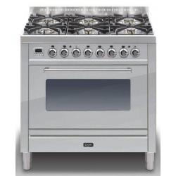 Aragaz ILVE Profesional line PD90, 90X60cm, 4 arzatoare, 2 cuptoare electrice, Tepanyaki, timer, aprindere electronica, inox