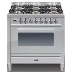 Aragaz ILVE Profesional line P90, 90X60cm, 6 arzatoare, cuptor electric, timer, aprindere electronica, inox
