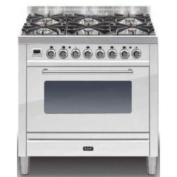 Aragaz ILVE Profesional line P90, 90X60cm, 4 arzatoare, cuptor electric, timer, Tepanyaki, aprindere electronica, negru mat