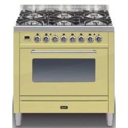 Aragaz ILVE Profesional line P90, 90X60cm, 4 arzatoare, cuptor electric, timer, Tepanyaki, aprindere electronica, alb