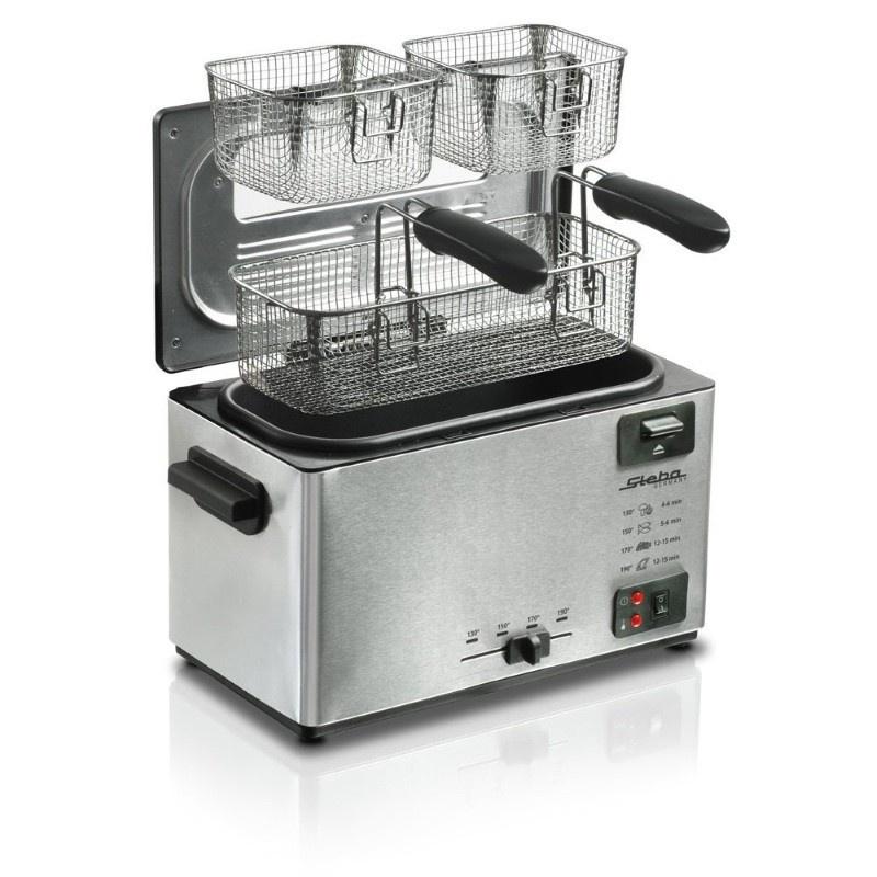 Friteuza Steba DF 100,2000W,3L,otel inoxidabil/negru