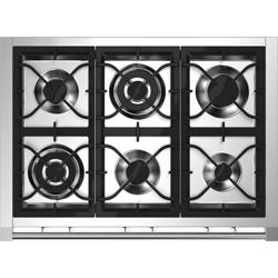 Aragaz Bertazzoni La Germania Americana AMN9P5EXV, 90x60 cm, 5 arzatoare, cuptor electric, aprindere electronica, inox