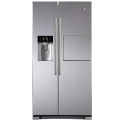 Side by Side Haier HRF-628AF6, 550 l, Clasa A+, No Frost, Usa Bar, H 180 cm, Argintiu
