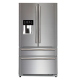 Side by Side Haier HB22FWRSSAA, 522 l, Clasa A+, No Frost, H 180 cm, Argintiu